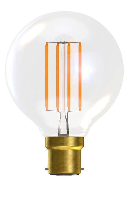 BELL 60136 4W LED Filament Globe Clear Dimmable BC 2700K